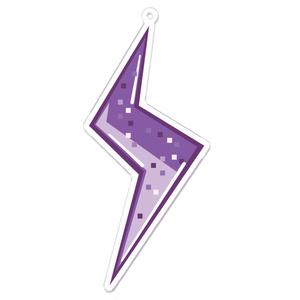 69on⚡アクリルキーホルダー【チャーム紫】サイズ3種