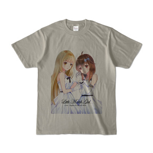 はがね&むおん カラーTシャツ シルバーグレー(XL/L/M/S)