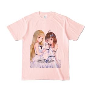 はがね&むおん カラーTシャツ ライトピンク(XL/L/M/S)