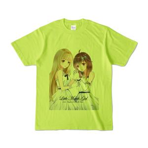 はがね&むおん カラーTシャツ ライトグリーン(XL/L/M/S)