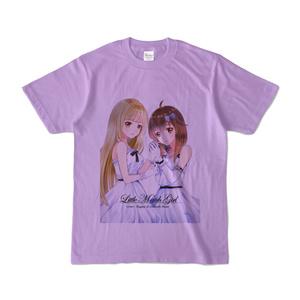 はがね&むおん カラーTシャツ ライトパープル(XL/L/M/S)