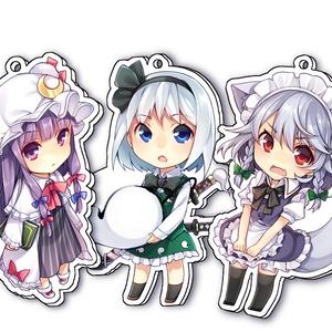 【東方】アクリルキーホルダー(全3種)