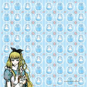 アリスの大判ハンカチ