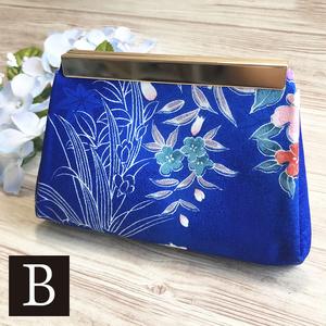 手のひらサイズの折財布【和柄・藍】