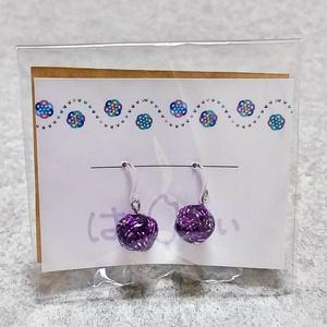 水引ピアス(紫)