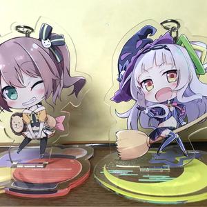 【非公式・売切・再販検討中】紫咲シオン 台座付きアクリルキーホルダー