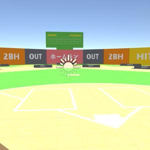 【3Dデータ】おめシスの野球ボード.fbx