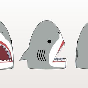 【3Dデータ】おめシスのサメの被り物