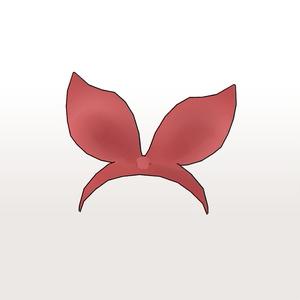 【3Dデータ】レイちゃんのリボン