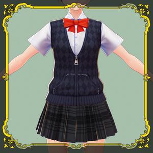 制服ファスナーアレンジ【#VRoid】