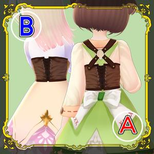 スチームパンク風コルセットA・B【#VRoid】