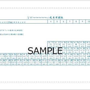 長〜〜い周期表手拭い