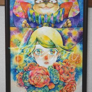A4原画【星猫のお気に入り】
