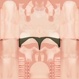 【VRoid】上半身裸テクスチャ