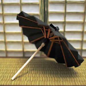 ミニチュア番傘 黒羽色