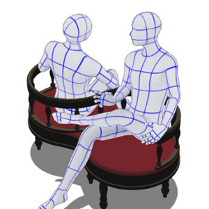 3DのKissing chair