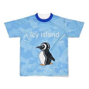 半袖Tシャツ ブルー 氷島 ペンギン 14101077