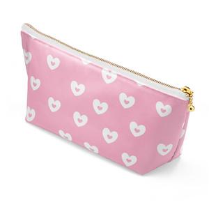 コスメポ―チ ハート柄 ピンク