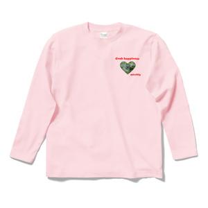 長袖Tシャツ ピンク クローバーハート Grab happiness 14466198