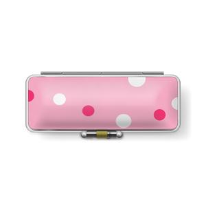 印鑑ケース 水玉柄 ピンク