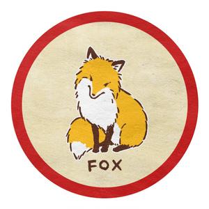 [Love Fox[朱]]マスキングテープ