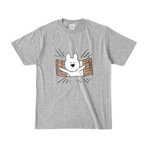 [すこぶる動くウサギ]カラーTシャツ