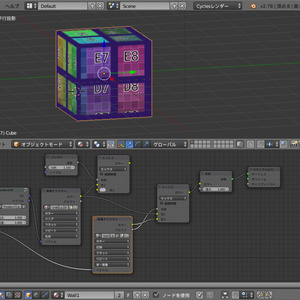 Blenderの立体視マテリアルのサンプル
