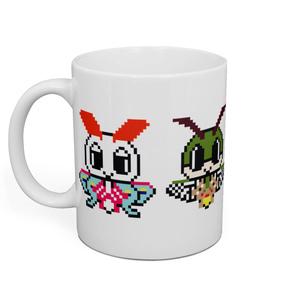 ドット絵蟲っ子マグカップ