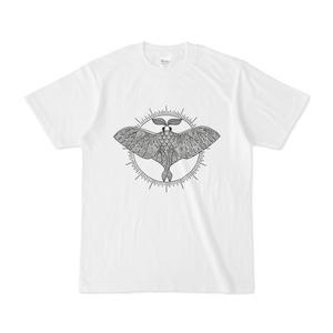 オオミズアオ線画Tシャツ