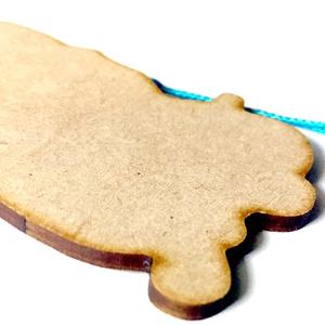木製根付ストラップ 滑車一輪
