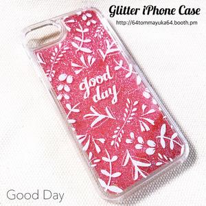 《SALE》グリッターiPhoneケース/good day