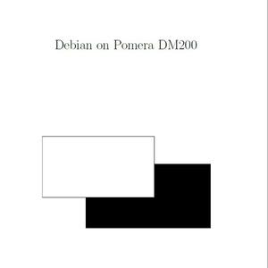 Debian on Pomera DM200