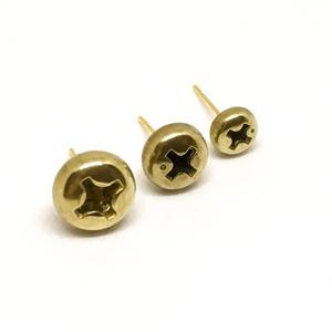 ScrewCapスタッドピアス-真鍮(左右1セット)
