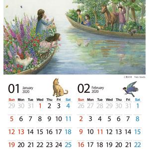 2020年カレンダー  ~いきものたちと季節の物語~  2020 Calendar