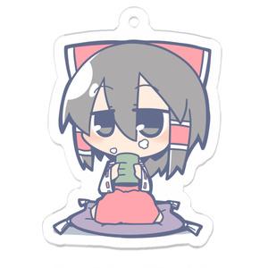 お茶のみ霊夢キーホルダー
