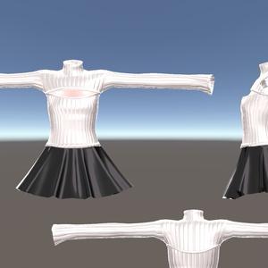 スキニング済み3D衣装「例のタートルネックセーター(胸メッシュ付)」