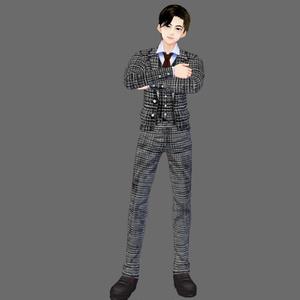 【Vroid】ツイード風スーツ(3色)