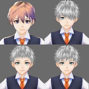 【Vroid】ツンツン無造作ショートヘア・ヘアプリセット(前髪4パターン)