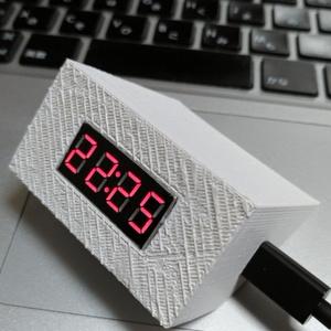 『NTPで時刻同期する時計作ってみた』で作った時計の3Dプリント用データ