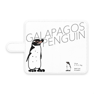 ガラパゴスペンギン 手帳型Androidケース - S