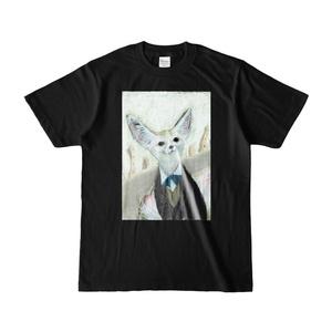 オオミミギツネTシャツ黒