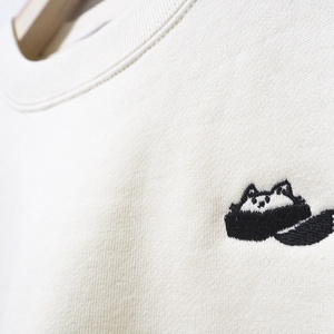 moffmachiロゴ刺繍スウェット