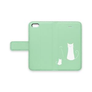 ねこさん手帳型iPhoneケース