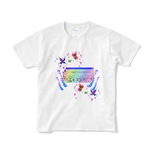 蝶windowTシャツ(白)