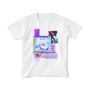 うさぎグラデーションTシャツ(白)