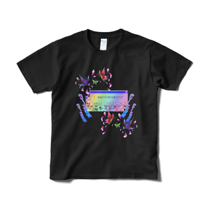 蝶windowTシャツ(黒)
