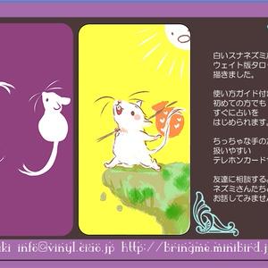 白いスナネズミのタロット ポーチ色紫
