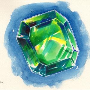 ドローイング原画「宝石3」