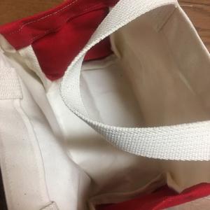 FF5・DFFバッツ絵入り自家製ミニトートバッグ(赤)ポストカード3枚つき