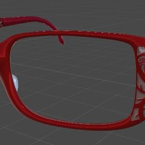 VRChat向け 桜柄眼鏡